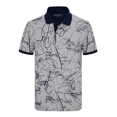 Genova Short Sleeve Polo Shirt // Gray Melange (S)
