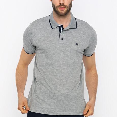 Ansan Short Sleeve Polo Shirt // Gray Melange (S)