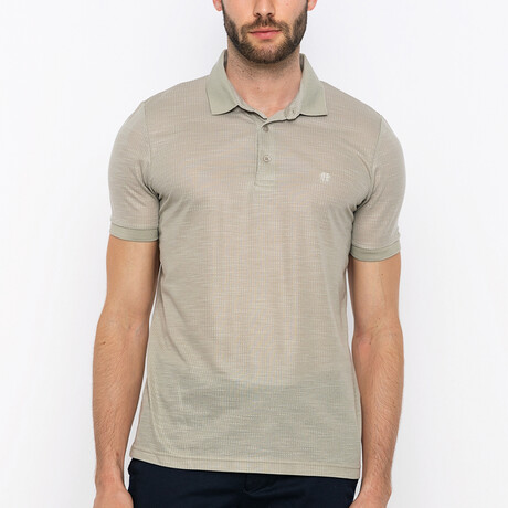 Valley Short Sleeve Polo Shirt // Beige (S)