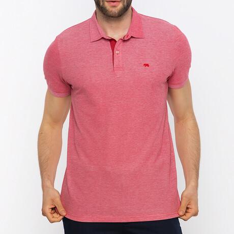 Barcelona Short Sleeve Polo Shirt // Bordeaux (S)