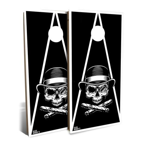 Skull + Cross Cigars // Cornhole Board Set