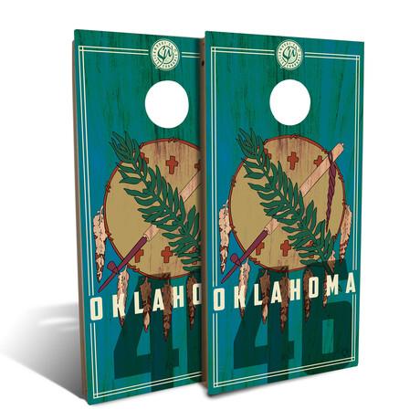 Oklahoma State Flag // Cornhole Board Set (Classic)