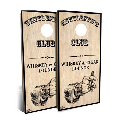 Whiskey + Cigar Lounge // Cornhole Board Set