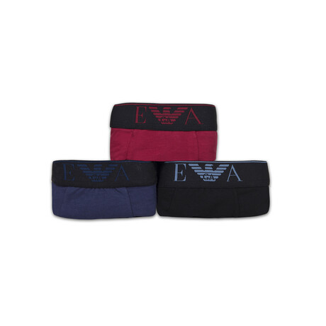 Low Rise Boxers // Pack of 3 // Black + Bordeaux + Navy (S)