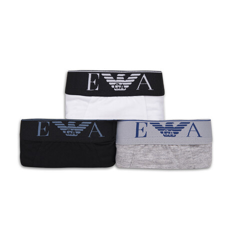 Low Rise Boxers II // Pack of 3 // Black + White + Gray (S)