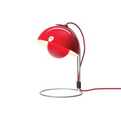 Flowerpot Pendant Table Lamp // Red