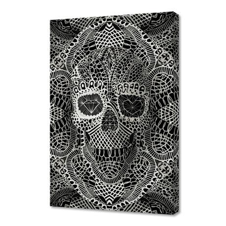 """Lace Skull (12""""H x 8""""W x 0.75""""D)"""