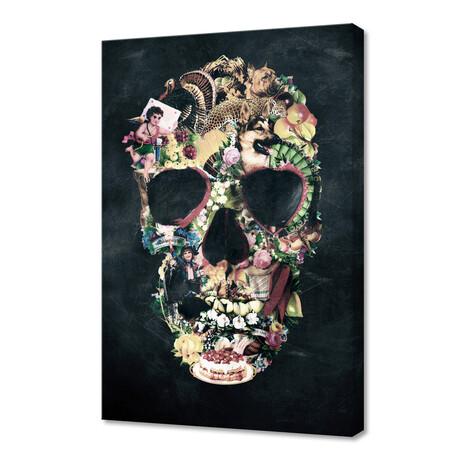 "Vintage Skull (12""H x 8""W x 0.75""D)"