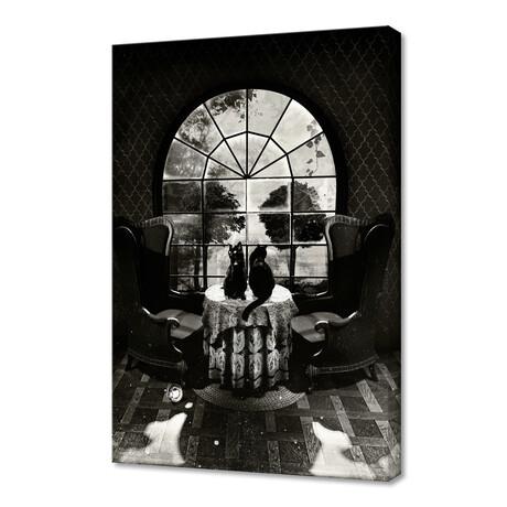 """Room Skull // B&W (12""""H x 8""""W x 0.75""""D)"""