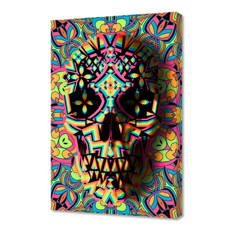 """Skull Geo (12""""H x 8""""W x 0.75""""D)"""