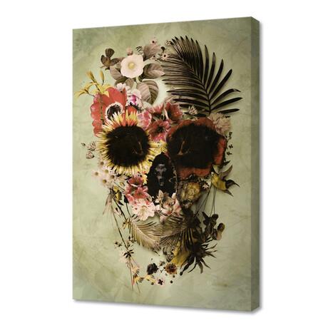 """Garden Skull // Light (12""""H x 8""""W x 0.75""""D)"""