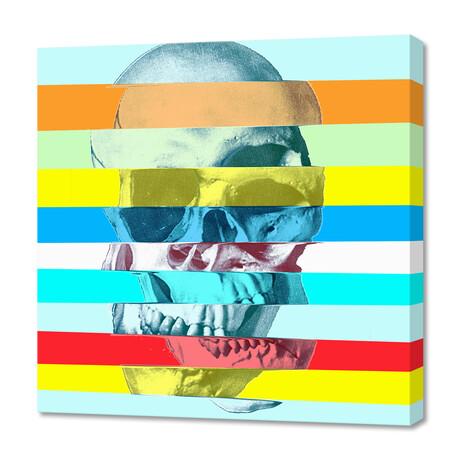 """Glitch Skull (12""""H x 12""""W x 0.75""""D)"""