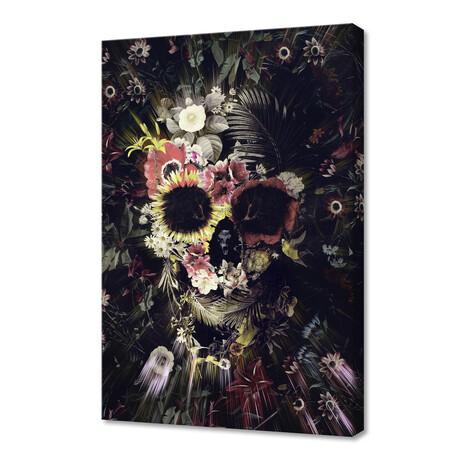 "Garden Skull (12""H x 8""W x 0.75""D)"