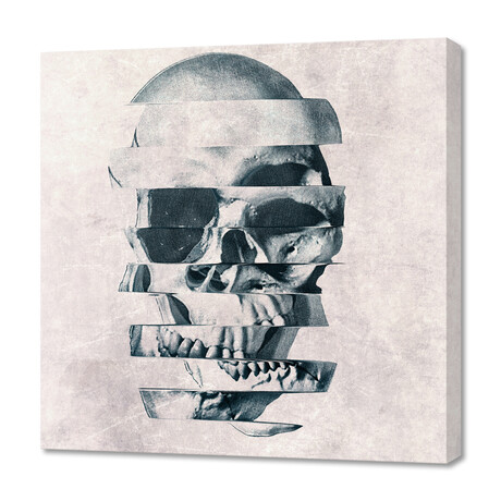"Glitch Skull Mono (12""H x 12""W x 0.75""D)"