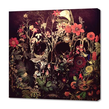 """Bloom Skull (12""""H x 12""""W x 0.75""""D)"""