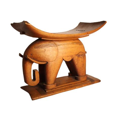 Ashanti Elephant Royal Stool // Ghana