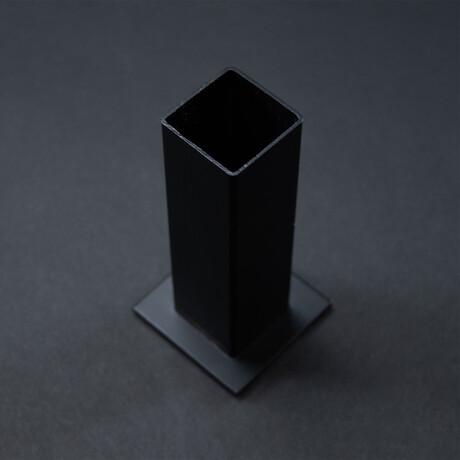 Black Steel Immortal Rose Vase
