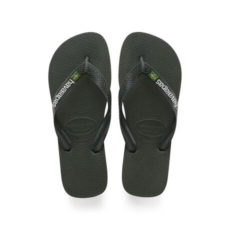 Brazil Logo Sandal // Olive Green (US: 8)