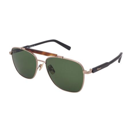 Unisex SF198S-717 Square Sunglasses // Shiny Gold