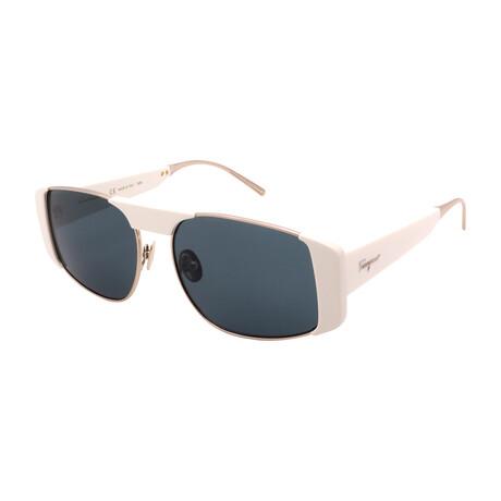 Women's SF267S-720 Rectangular Sunglasses // Gold + White