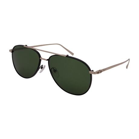 Unisex SF201S-733 Aviator Sunglasses // Shiny Gold + Black
