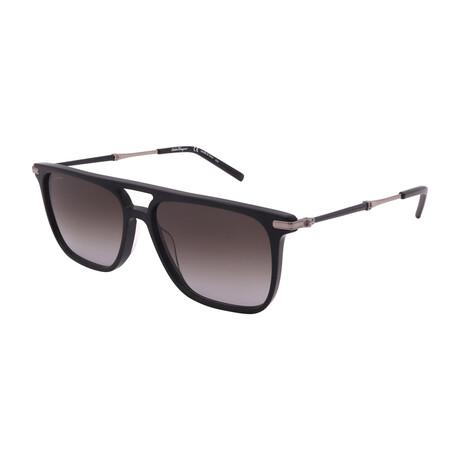 Unisex SF966S-001 Square Sunglasses // Black