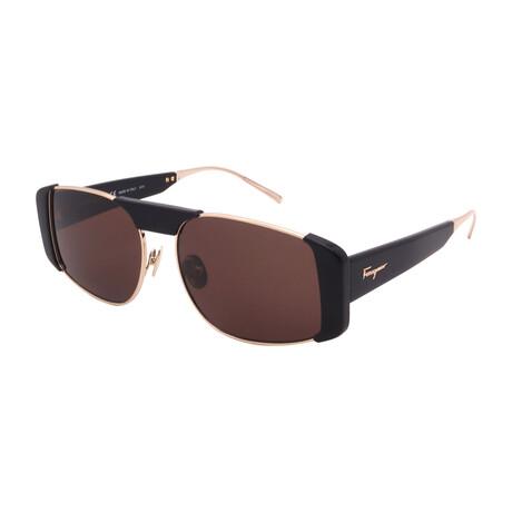 Women's SF267S-733 Rectangular Sunglasses // Gold + Black