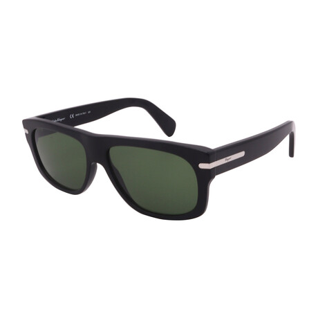 Unisex SF991S-001 Rectangular Sunglasses // Black