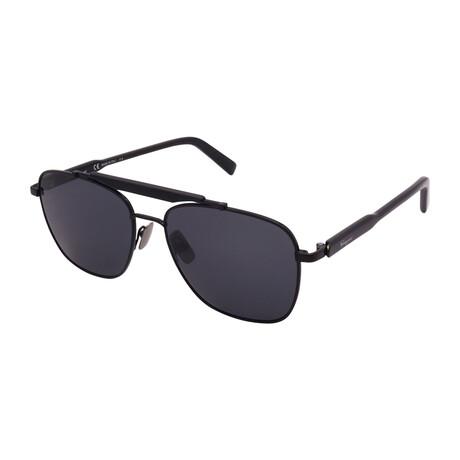 Unisex SF198S-001 Square Sunglasses // Black