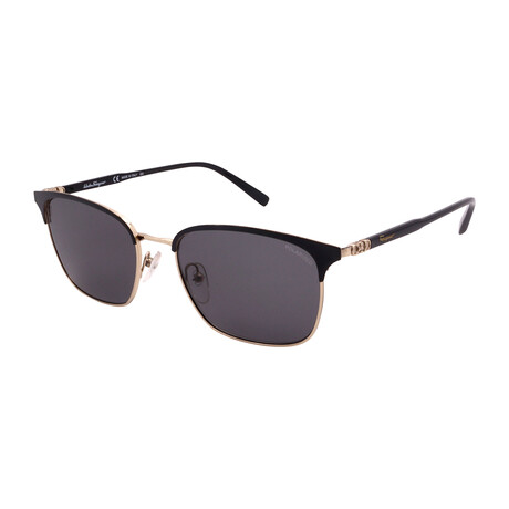 Unisex SF180SP-017 Square Polarized Sunglasses // Black + Shiny Gold