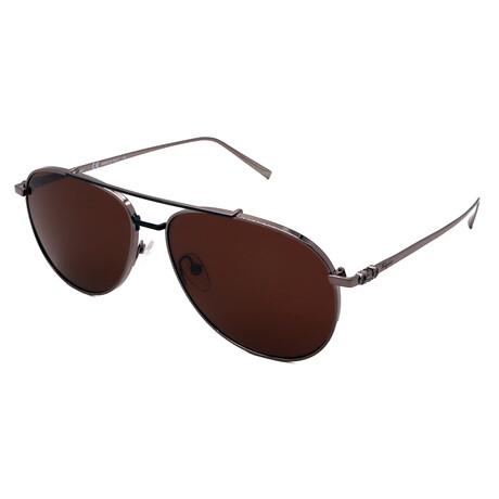 Unisex SF201S-035 Aviator Sunglasses // Shiny Gunmetal