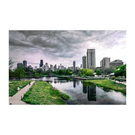 CHICAGO CITY VIEW (Black Frame)