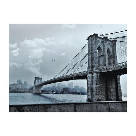 BROOKLYN BRIDGE DURING THE DAY (Black Frame)