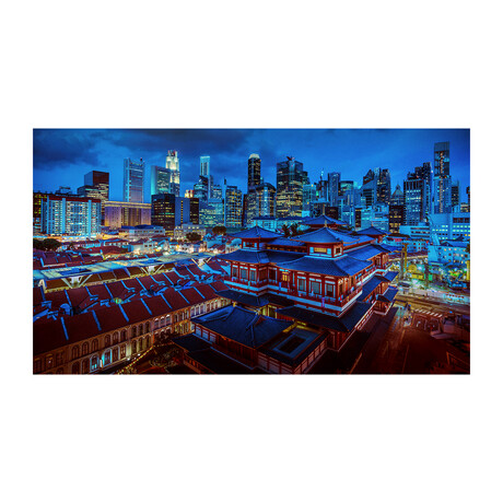 SINGAPORE DARK BLUE (Black Frame)