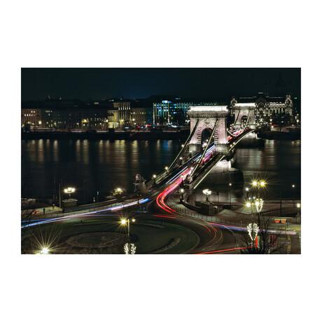 BUDAPEST SZECHENYI CHAIN BRIDGE (Black Frame)