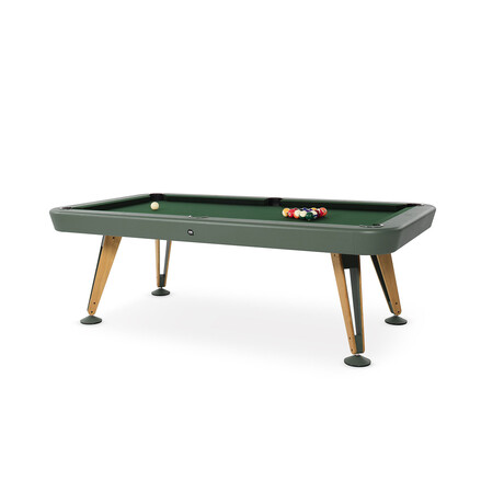 Diagonal Indoor Pool Table // 7ft. (White)