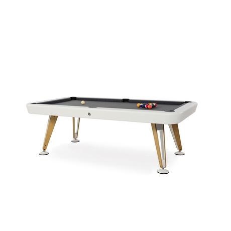 Diagonal Indoor Pool Table // 8ft. (White)