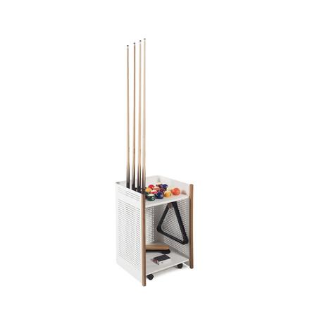 Mou Floor Cue Rack // Indoor // Oak (White)
