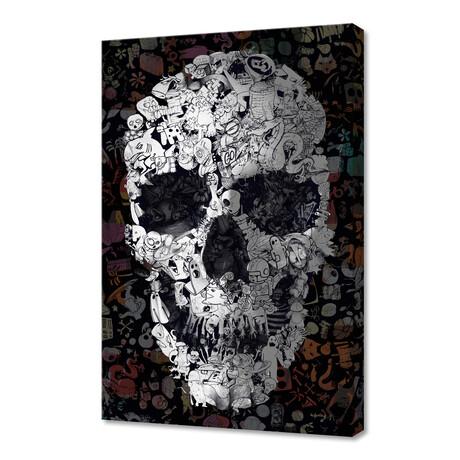 """Doodle Skull (12""""H x 8""""W x 0.75""""D)"""