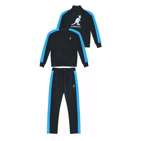 French Terry Track Suit // Black + Royal (S)