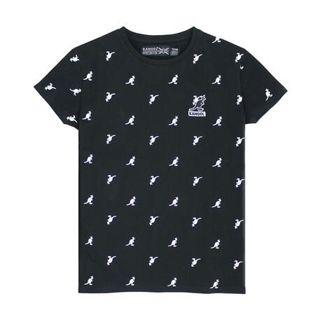 Women's All-Over Print T-Shirt // Black (XS)
