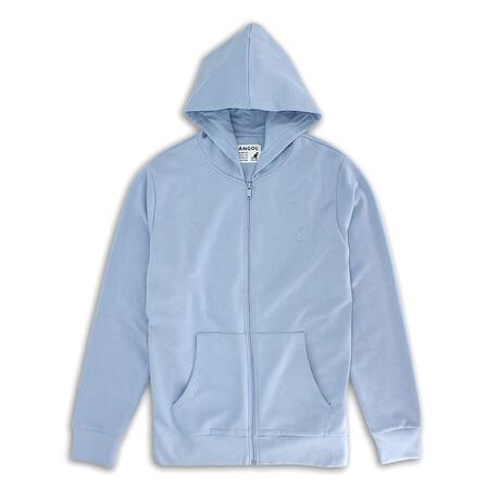 Full Zip Fleece Hoodie // Lavender Sky (S)