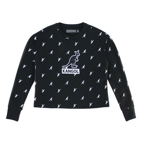 Women's Fleece Crop Popover + Applique // Black (XS)