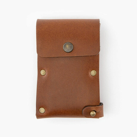 Leather Dugout // Rivet // Brown