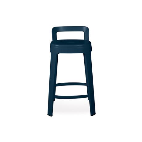 Ombra Counter Stool + Backrest (White)