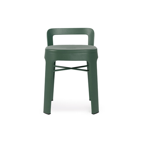 Ombra Low Stool + Backrest (White)