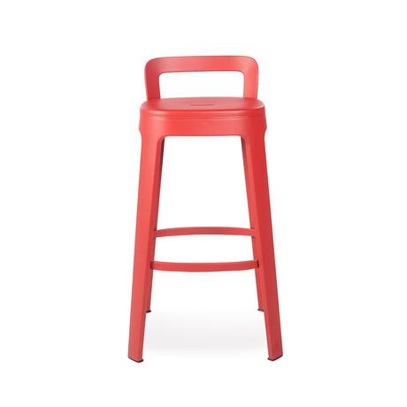 Ombra Bar Stool + Backrest (White)