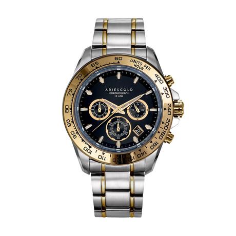 Aries Gold Monza 7024 Chronograph Quartz // G 7024 SG-BKG