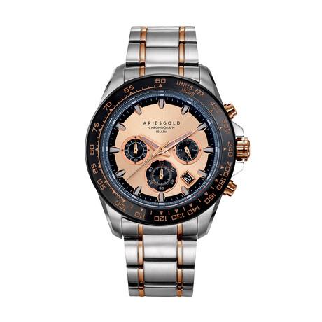 Aries Gold Monza 7024 Chronograph Quartz // G 7024 SBKRG-RG