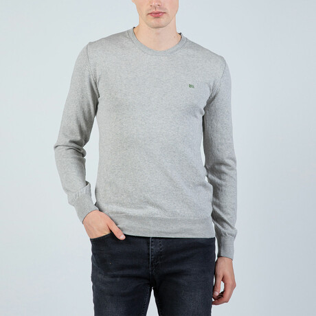 Liam Round Neck Pullover // Gray (S)